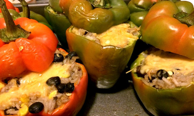 Rice and Beans Stuffed Bell Peppers