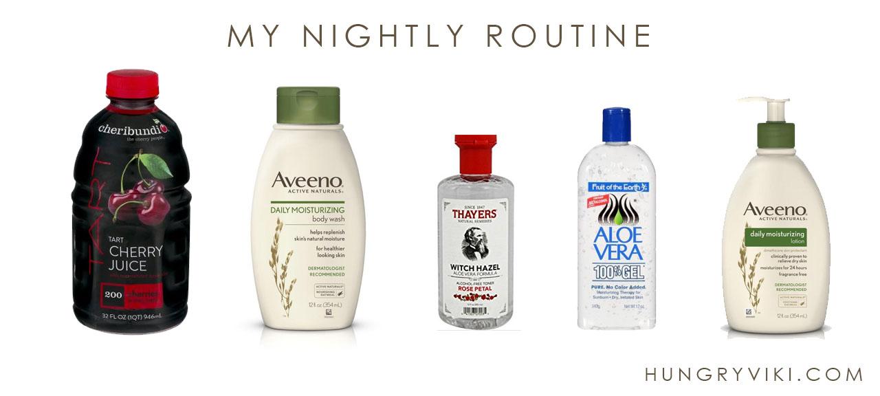 My nightly routine for itchy rashy skin