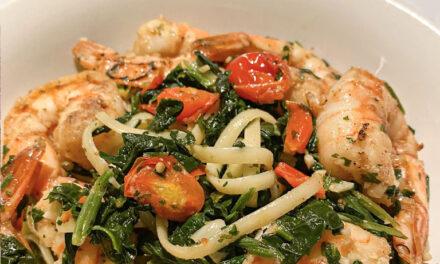 Shrimp and Tomato Basil Garlic Pasta