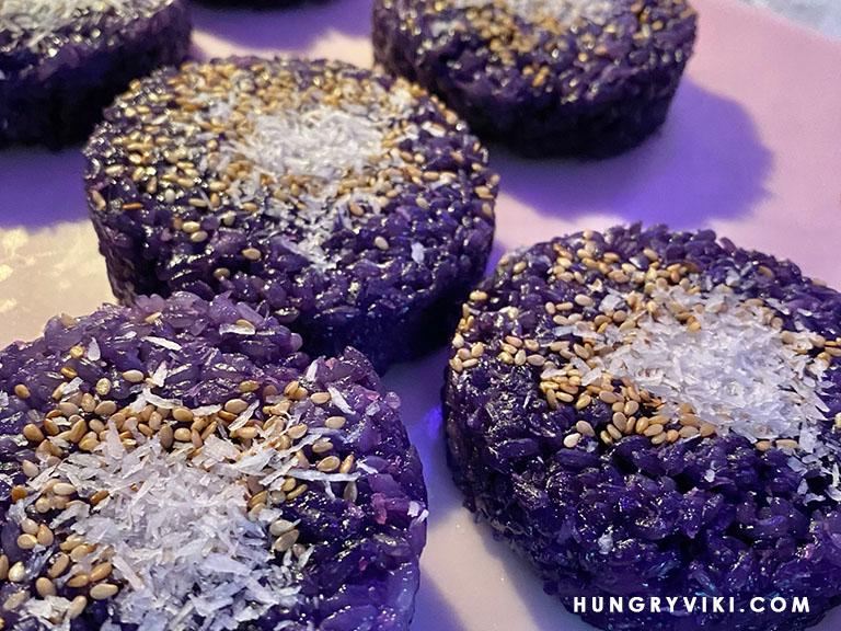 Ube Xoi (Purple  Yam Sticky Rice)